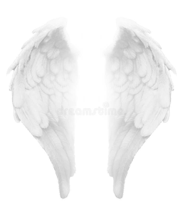 Θεία ελαφριά άσπρα φτερά αγγέλου απεικόνιση αποθεμάτων