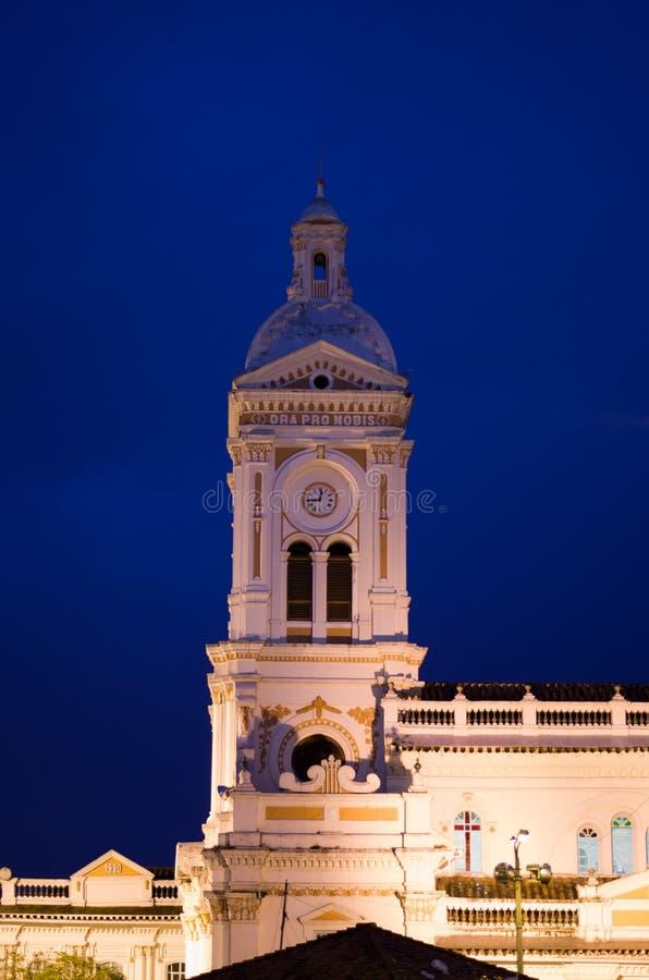 Θεαματική αποικιακή εκκλησία στην αυγή στοκ φωτογραφίες με δικαίωμα ελεύθερης χρήσης