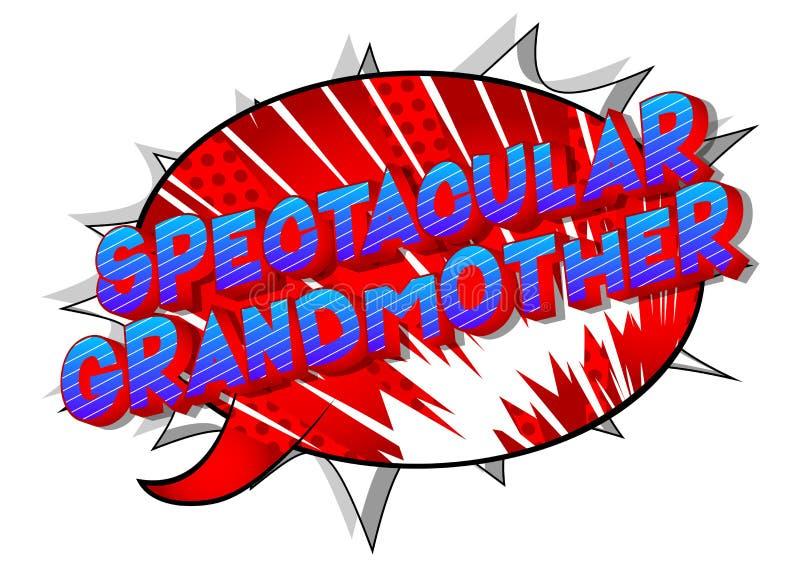 Θεαματική γιαγιά - λέξεις ύφους κόμικς ελεύθερη απεικόνιση δικαιώματος
