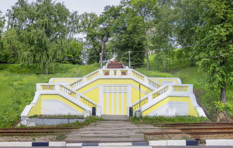 Θεατρική ή σκάλα Teatralnaya nizhny novgorod Ρωσία στοκ εικόνες με δικαίωμα ελεύθερης χρήσης