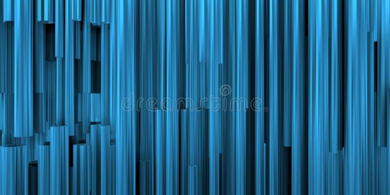 Θεατρικό υπόβαθρο με την μπλε σύνθεση των μεταλλικών σωλήνων ελεύθερη απεικόνιση δικαιώματος