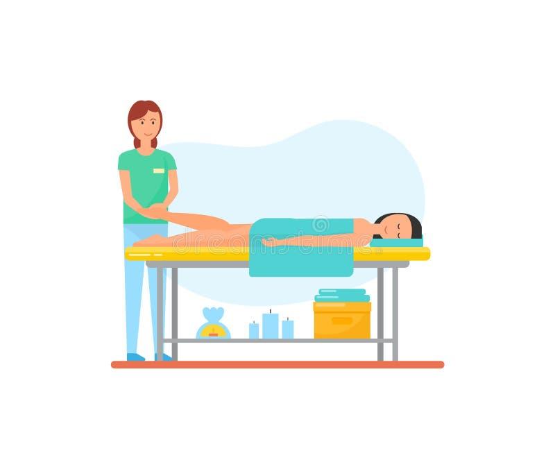 Θεραπεία ποδιών θεραπείας μασάζ από το διάνυσμα μασέρ διανυσματική απεικόνιση