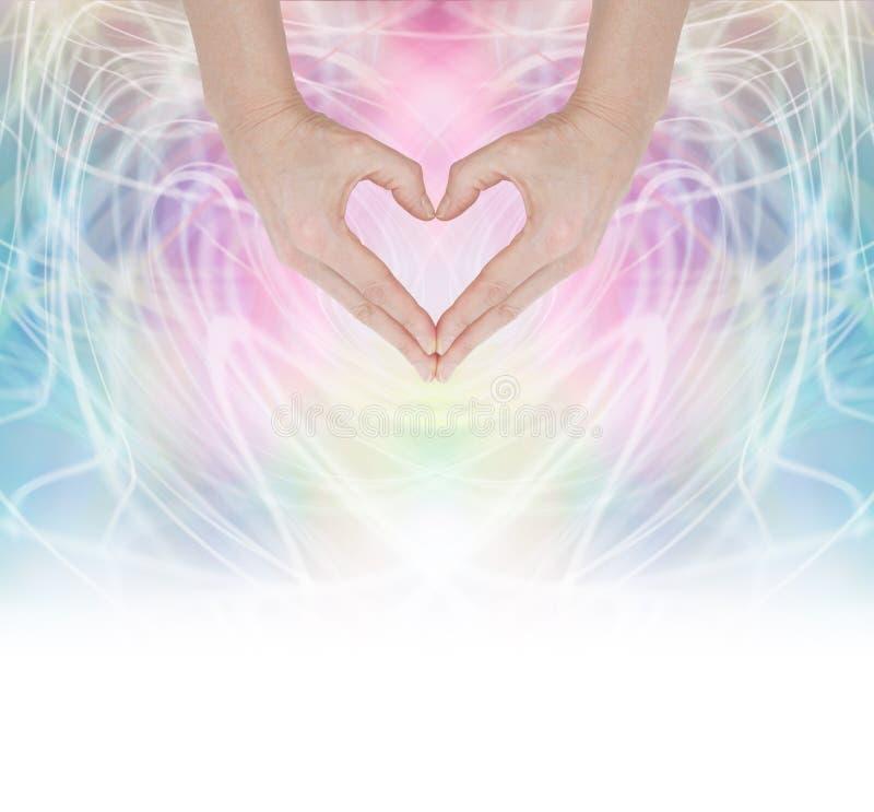 Θεραπεύοντας ενέργεια καρδιών στοκ εικόνα