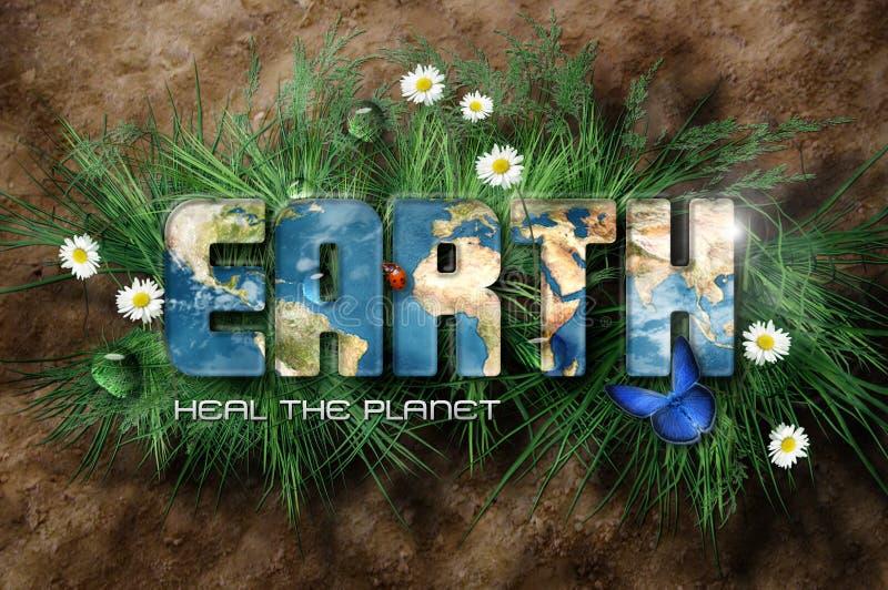θεραπεύστε τον πλανήτη διανυσματική απεικόνιση
