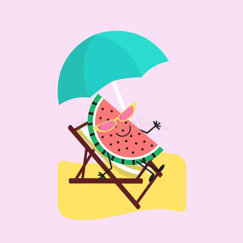Θερινά γλυκά Διάνυσμα εικονιδίων σχεδίου φρούτων χρώματος απεικόνιση αποθεμάτων