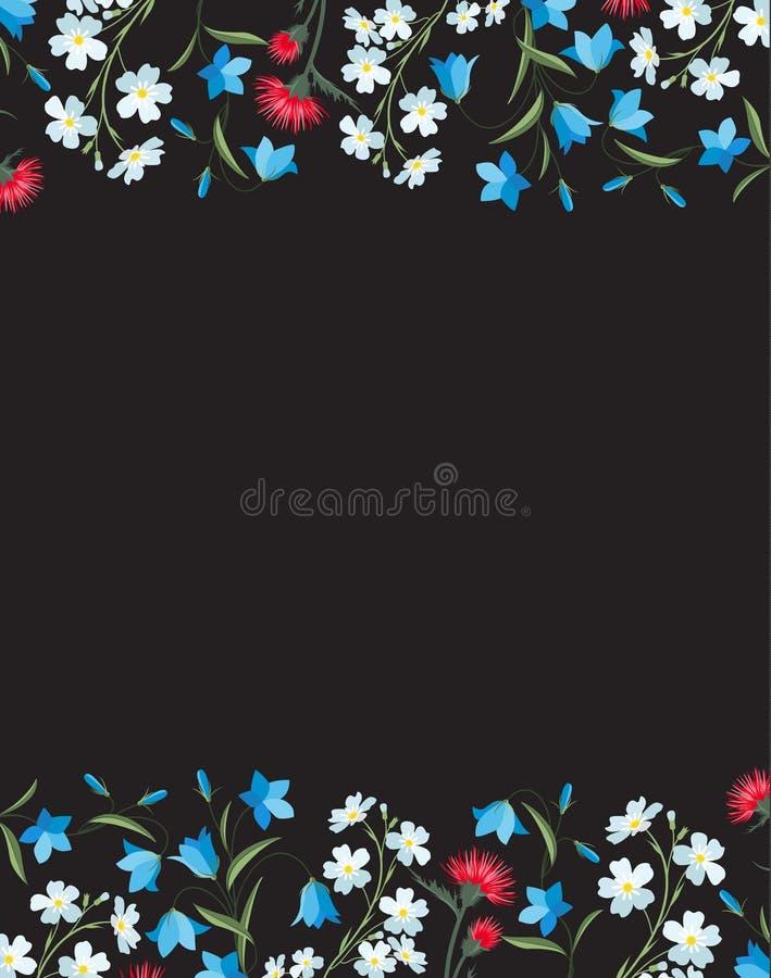 Θερινές floral διακοσμήσεις διανυσματική απεικόνιση