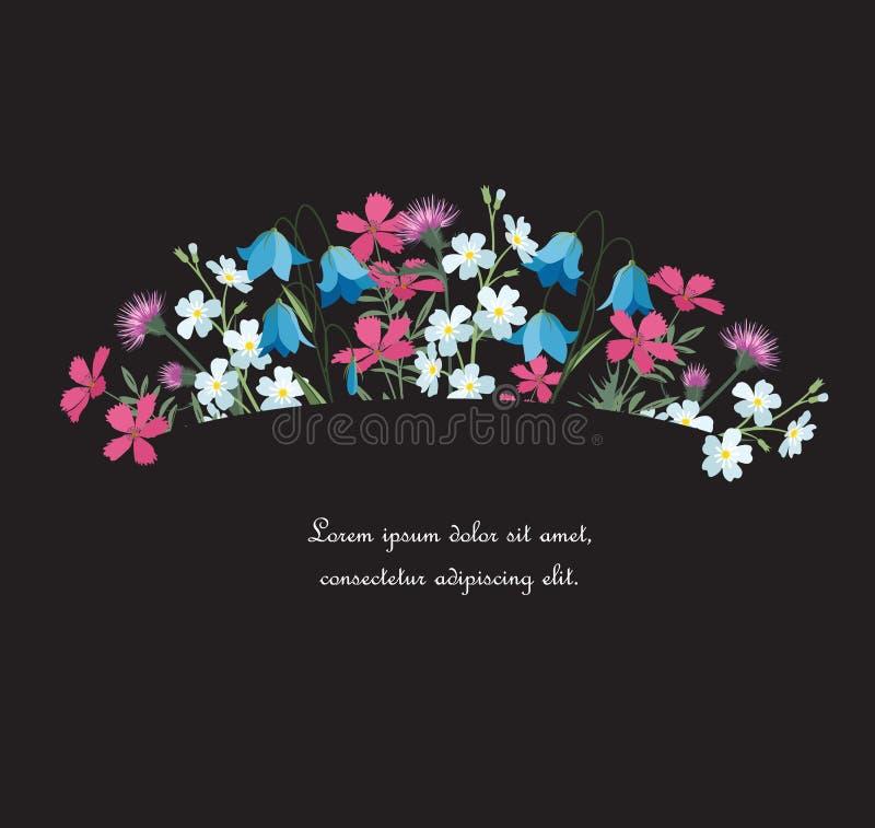 Θερινές floral διακοσμήσεις ελεύθερη απεικόνιση δικαιώματος
