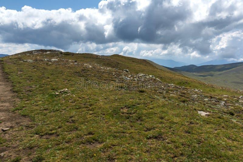 Θερινή άποψη Rila Mountan κοντά στις επτά λίμνες Rila, Βουλγαρία στοκ φωτογραφίες με δικαίωμα ελεύθερης χρήσης