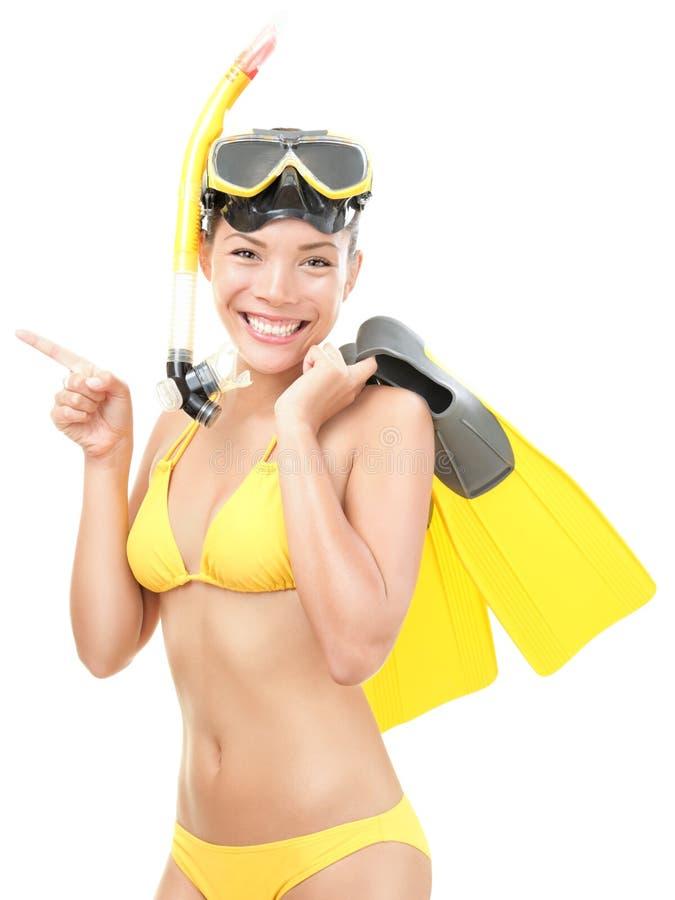 θερινή γυναίκα κολύμβηση&s στοκ εικόνες