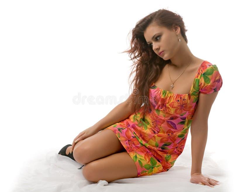 θερινή γυναίκα φορεμάτων στοκ εικόνα με δικαίωμα ελεύθερης χρήσης