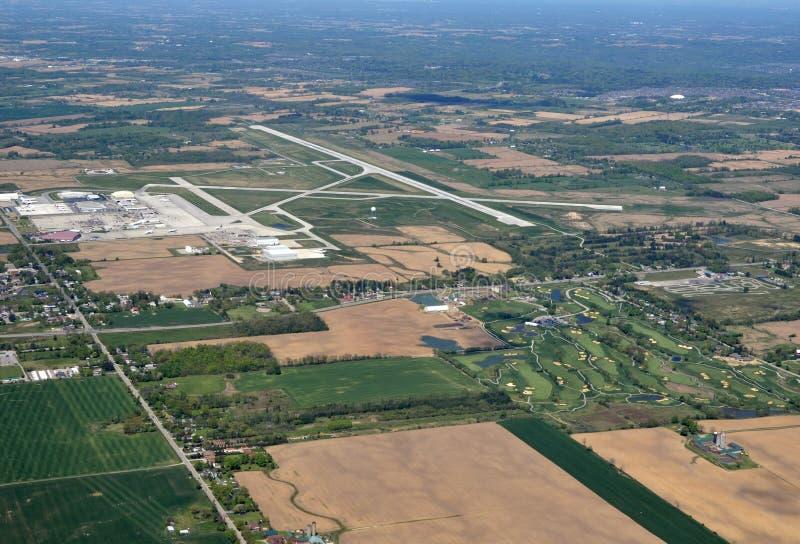 Θερινή κεραία αερολιμένων του Χάμιλτον διεθνής στοκ φωτογραφία