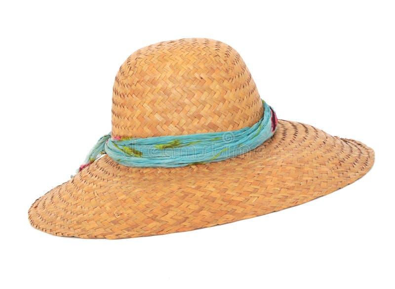 θερινή λυγαριά καπέλων στοκ εικόνες με δικαίωμα ελεύθερης χρήσης