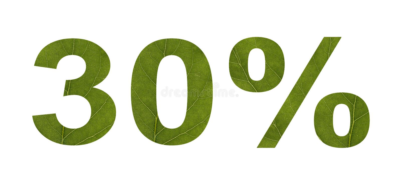 Θερινή πώληση Έκπτωση 30 τοις εκατό, απομονωμένο λευκό υπόβαθρο Η σύσταση του φύλλου του δέντρου Έμβλημα, ιπτάμενο, πρόσκληση ελεύθερη απεικόνιση δικαιώματος