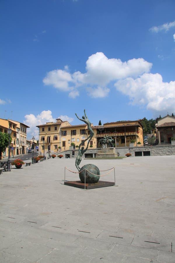 Θερινή πλατεία της πόλης της Φλωρεντίας, Ιταλία στοκ εικόνα με δικαίωμα ελεύθερης χρήσης