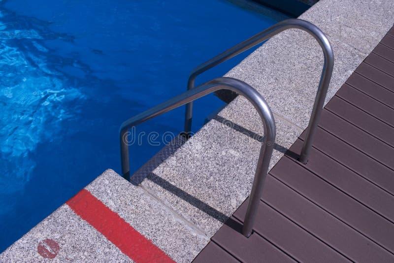 Θερινή υπαίθρια πισίνα στοκ εικόνα με δικαίωμα ελεύθερης χρήσης