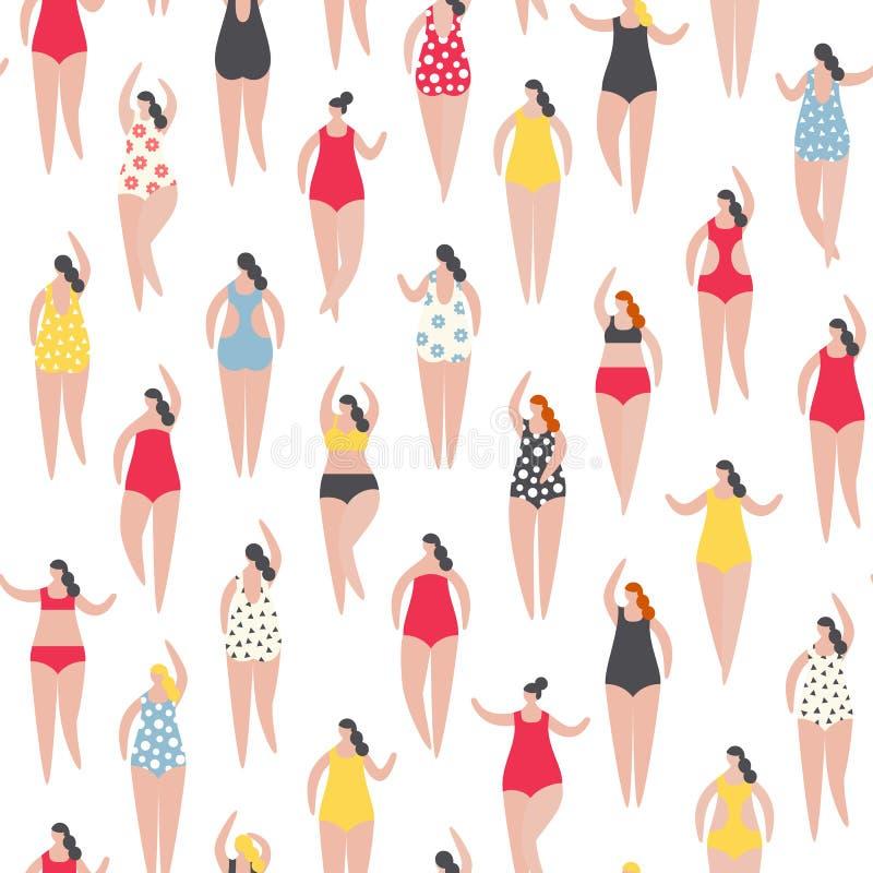 Θερινοί άνθρωποι στην παραλία Διανυσματικός illustrationBasic RGB ελεύθερη απεικόνιση δικαιώματος