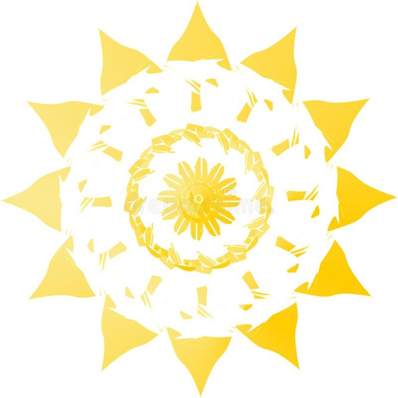 θερινός ήλιος διανυσματική απεικόνιση