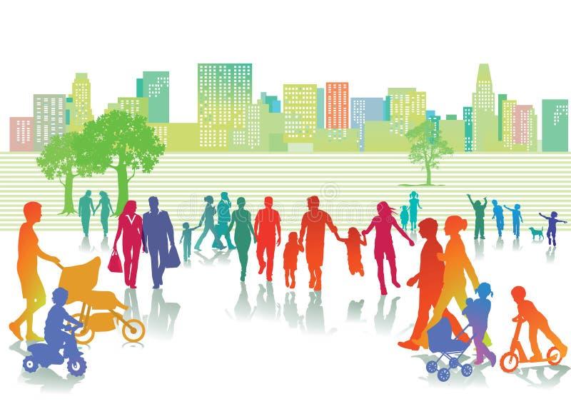 Θερινός ελεύθερος χρόνος στην πόλη ελεύθερη απεικόνιση δικαιώματος