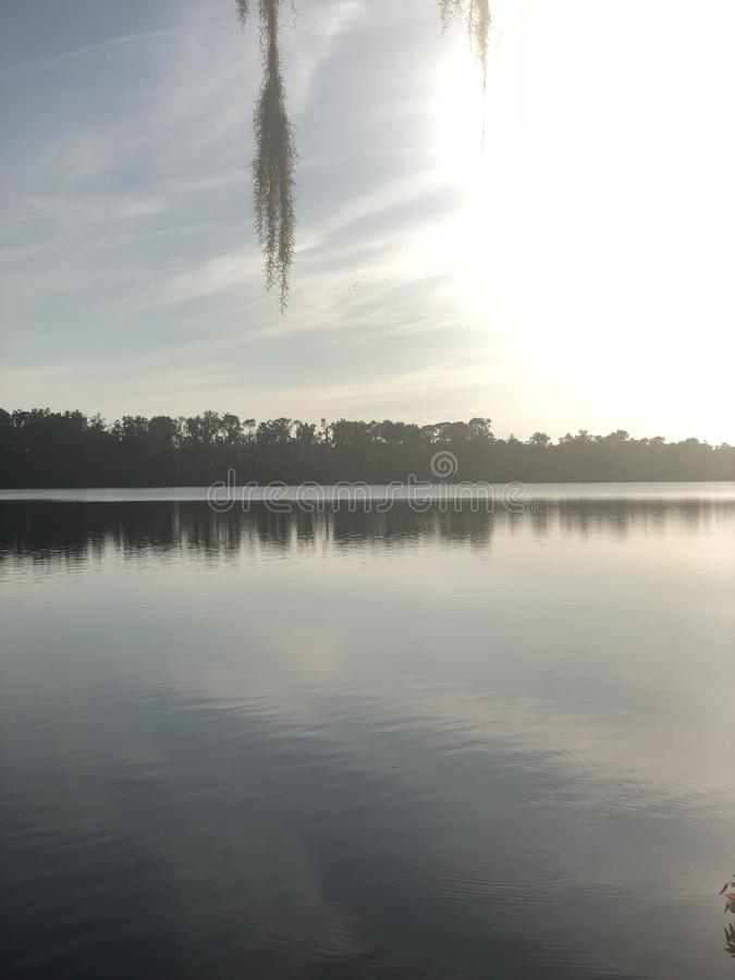 Θερινός χρόνος ηλιοβασιλέματος της Φλώριδας στοκ εικόνες
