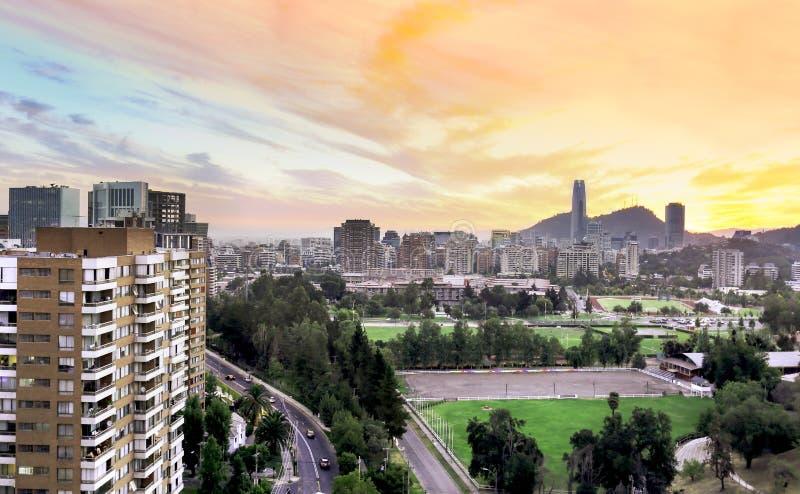 Θερινό απόγευμα του Σαντιάγο Χιλή στοκ φωτογραφίες