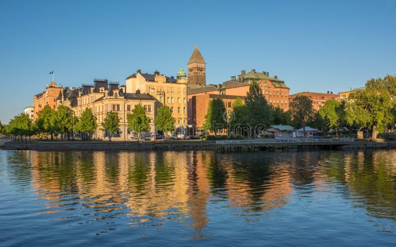 Θερινό βράδυ στη Σουηδία στοκ εικόνες με δικαίωμα ελεύθερης χρήσης