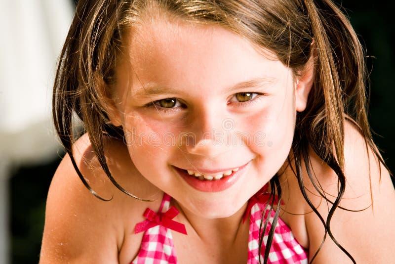 θερινό γλυκό χαμόγελου παιδιών στοκ φωτογραφία με δικαίωμα ελεύθερης χρήσης