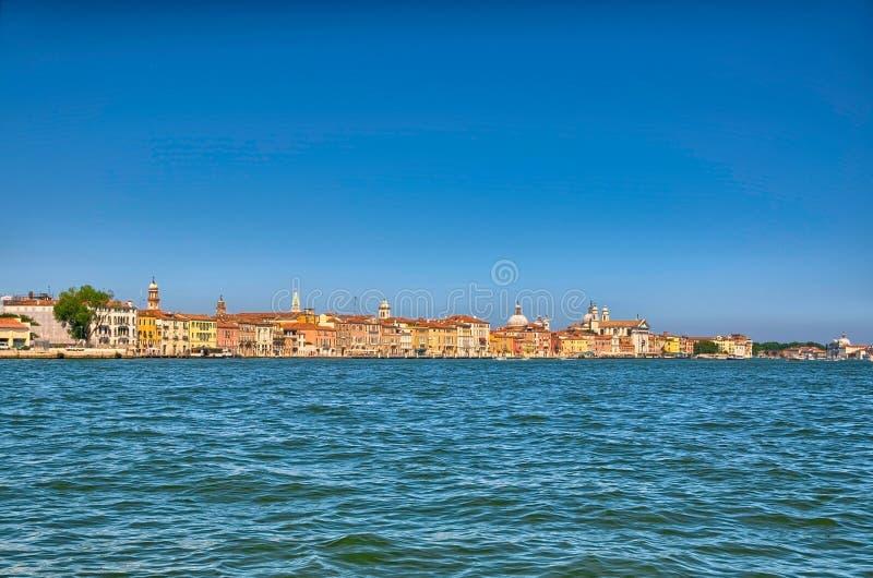 Θερινό ενετικό seaview της Νίκαιας στη Βενετία στην Ιταλία, HDR στοκ φωτογραφία με δικαίωμα ελεύθερης χρήσης