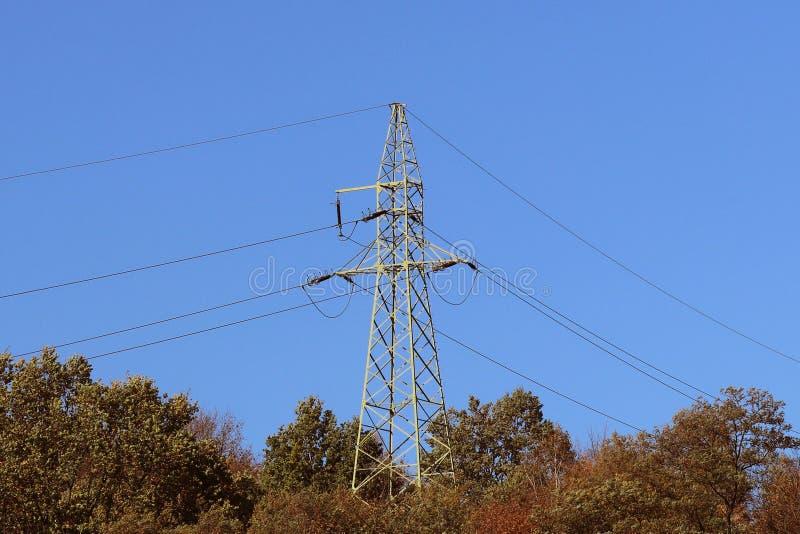 Θερινό λιβάδι στις ακτίνες του ήλιου με μια επικείμενη γραμμή thundercloud και ηλεκτρικής ενέργειας Καιρική αλλαγή Θύελλα μια ηλι στοκ φωτογραφία με δικαίωμα ελεύθερης χρήσης