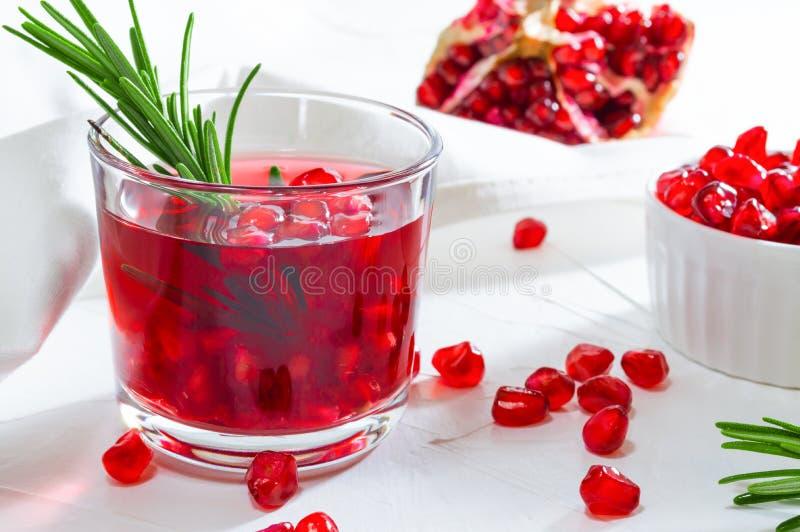 Θερινό ποτό με το ρόδι και το δεντρολίβανο E στοκ φωτογραφία με δικαίωμα ελεύθερης χρήσης