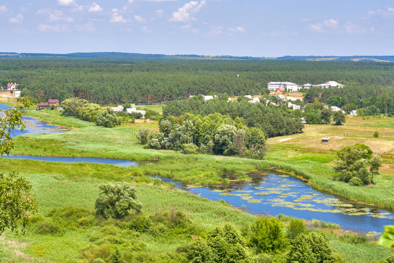 Θερινό τοπίο Ros ποταμών, Ουκρανία στοκ φωτογραφίες με δικαίωμα ελεύθερης χρήσης