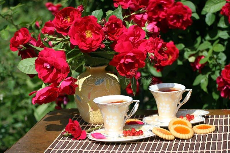 θερινό τσάι κήπων στοκ εικόνες