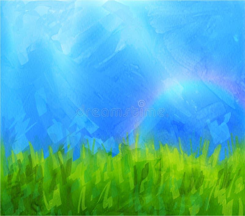 Θερινό υπόβαθρο με τα επιχρίσματα χρωμάτων ελεύθερη απεικόνιση δικαιώματος