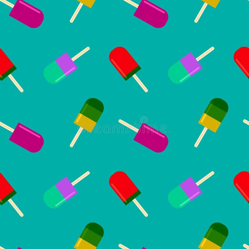 Θερινό υπόβαθρο με το fruity popsicle διανυσματική απεικόνιση