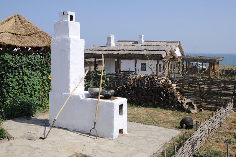 θερινό χωριό φούρνων στοκ εικόνες