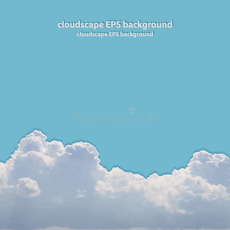 Θερινό όμορφο cloudscape. απεικόνιση αποθεμάτων