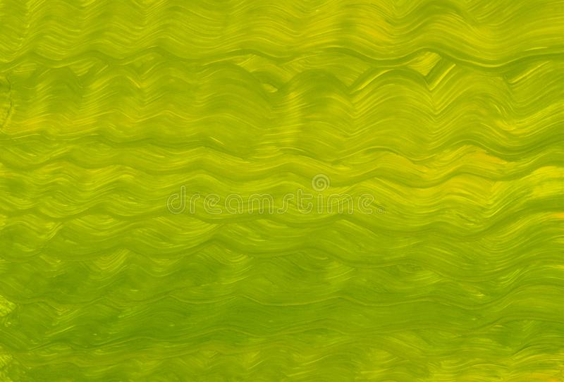 Θερινών πολύχρωμο κυμάτων πράσινο κίτρινο αφηρημένο σύστασης θάλασσας illustratio βουρτσών χρωμάτων κυμάτων μπλε διανυσματική απεικόνιση