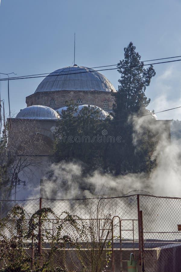 Θερμές πηγές κοντά στο λουτρό Chifte από την οθωμανική περίοδο στην πόλη του Κιουστεντίλ, Βουλγαρία στοκ εικόνα με δικαίωμα ελεύθερης χρήσης
