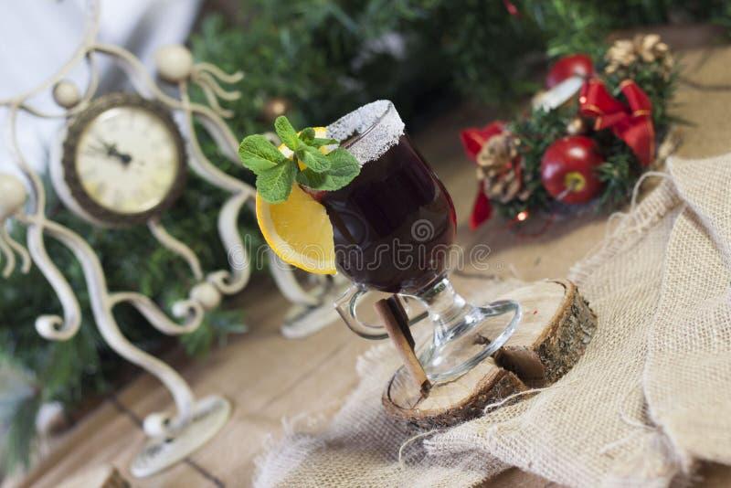 Θερμαμένο κρασί, καυτό κρασί στοκ εικόνα με δικαίωμα ελεύθερης χρήσης