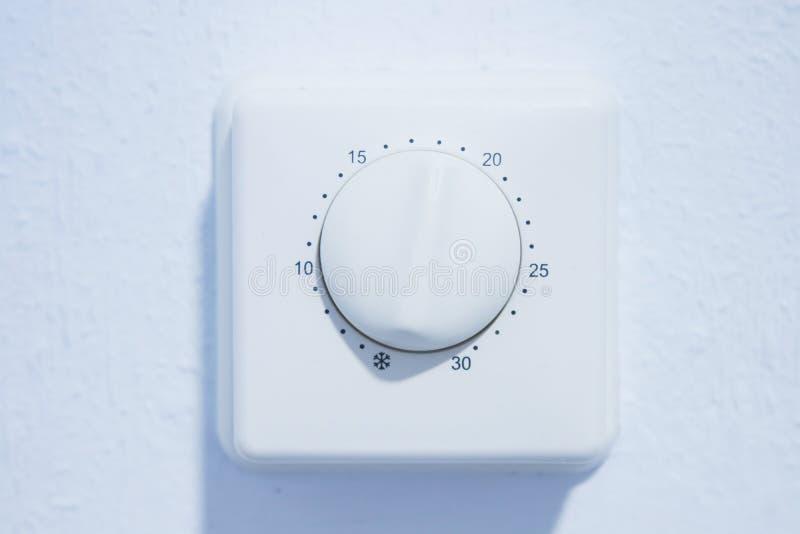 Θερμαντική θερμοστάτης θερμοκρασίας στοκ φωτογραφία με δικαίωμα ελεύθερης χρήσης