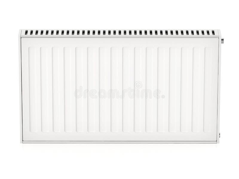 Θερμαντικό σώμα που απομονώνεται στο άσπρο υπόβαθρο τρισδιάστατη απεικόνιση ελεύθερη απεικόνιση δικαιώματος