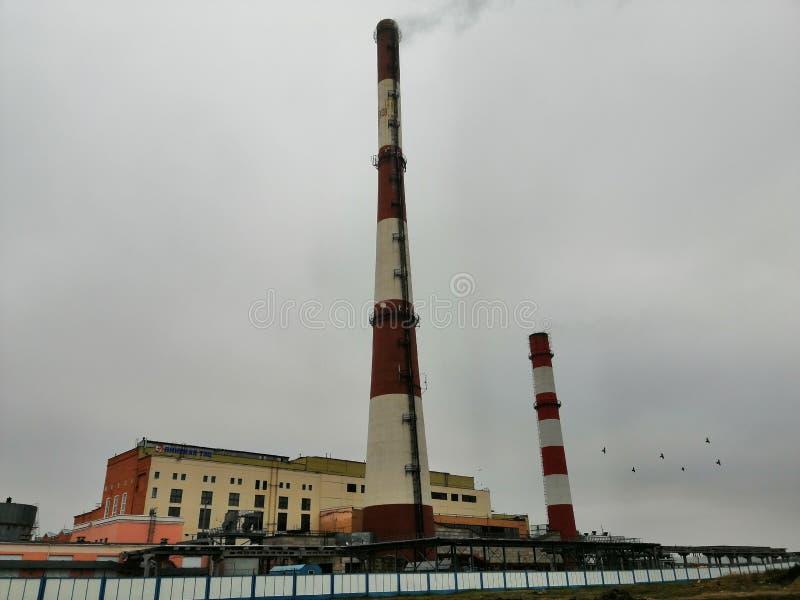 θερμικός σταθμός, οικολογία, στοκ εικόνες με δικαίωμα ελεύθερης χρήσης