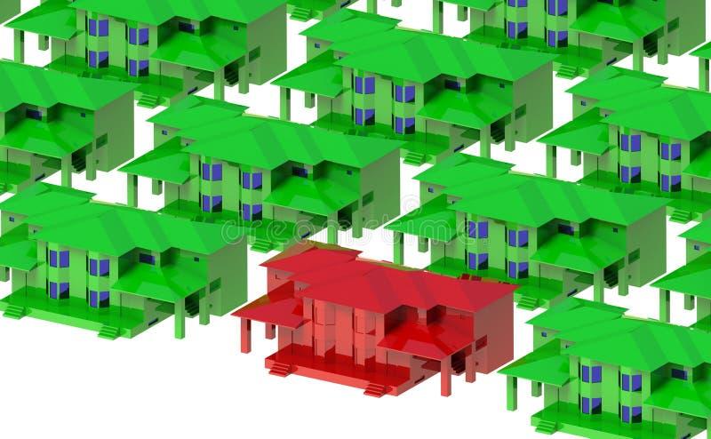 Θερμοκήπια γύρω από την κόκκινη βίλα στοκ φωτογραφία με δικαίωμα ελεύθερης χρήσης
