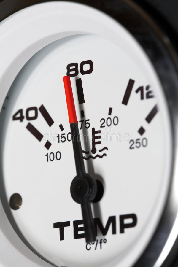 θερμοκρασία μετρητών στοκ φωτογραφίες
