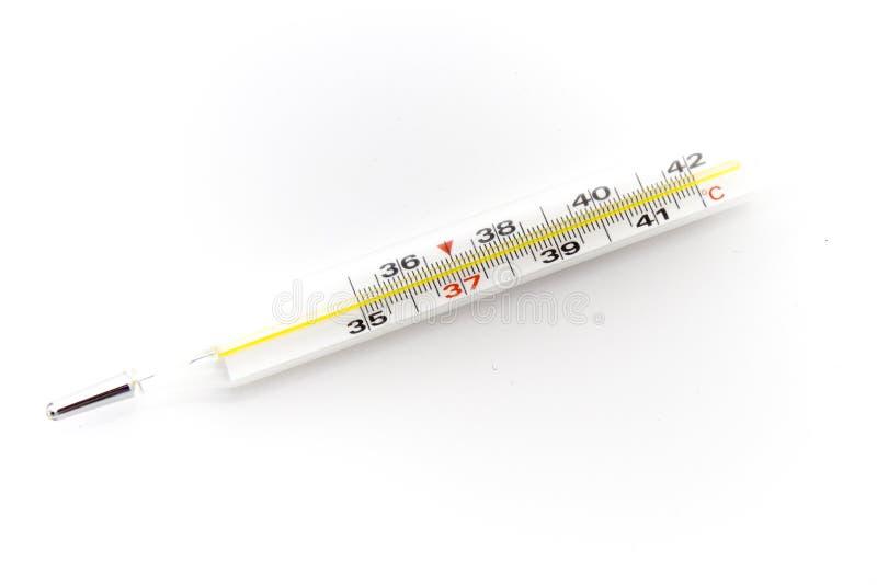 Θερμόμετρο για τη θερμοκρασία σωμάτων στοκ φωτογραφία