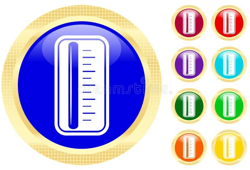 θερμόμετρο εικονιδίων απεικόνιση αποθεμάτων