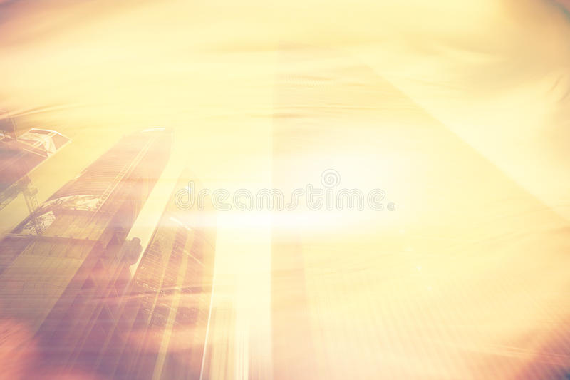 Θερμό κίτρινο θολωμένο υπόβαθρο στοκ φωτογραφίες