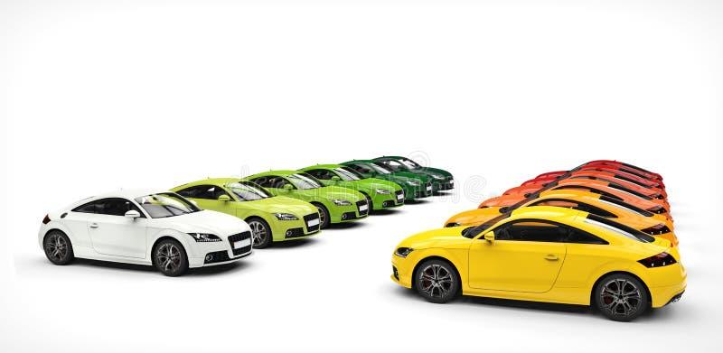 Θερμό και κρύο Pallette του χρώματος - αυτοκίνητα διανυσματική απεικόνιση