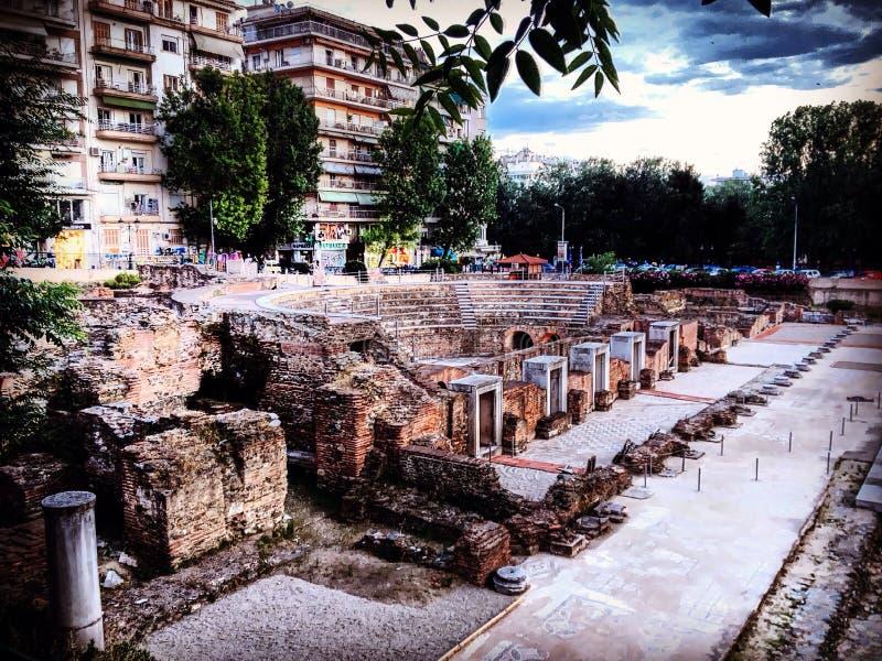 Θεσσαλονίκη, αρχαία στοκ εικόνες