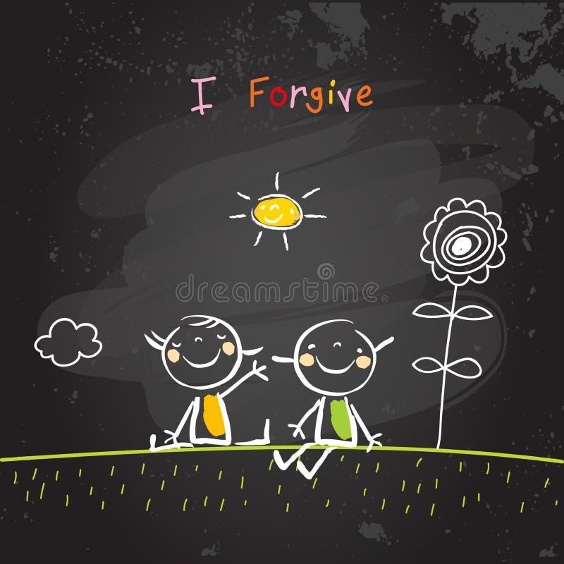 Θετικές επιβεβαιώσεις παιδιών, συγχωρώ ελεύθερη απεικόνιση δικαιώματος