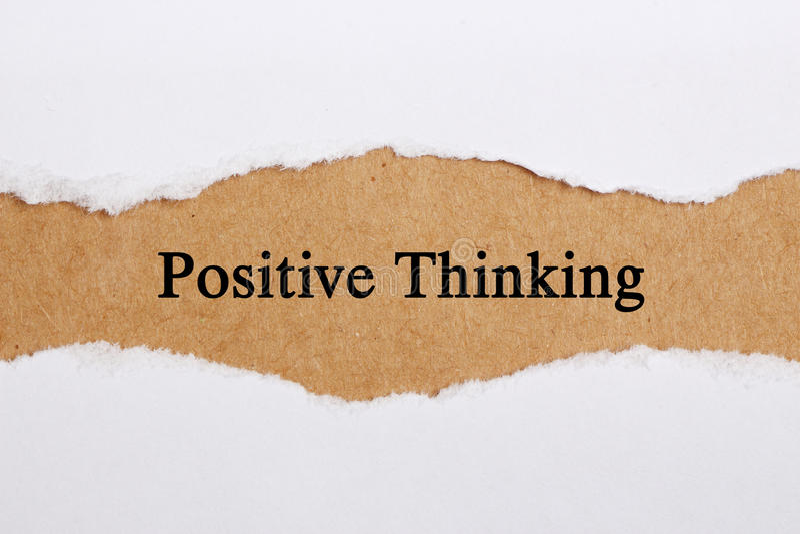 θετική σκέψη στοκ φωτογραφία